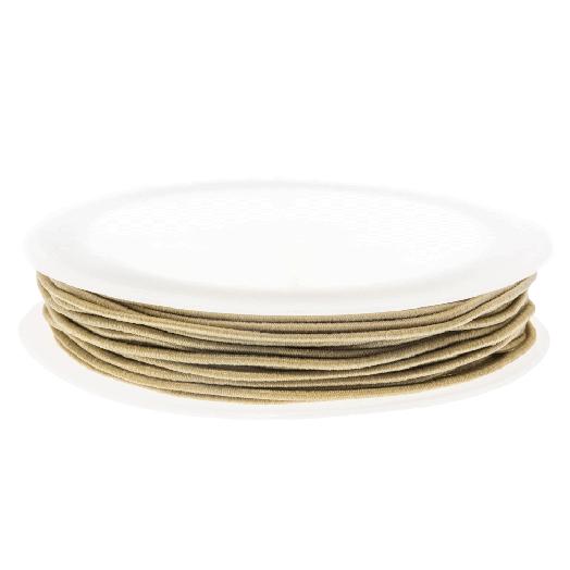 Elastiek (1 mm) Light Sand (9,5 Meter)