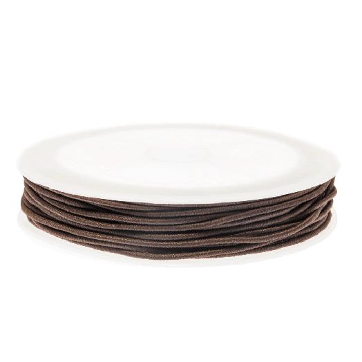 Elastiek (1 mm) Chocolate (9,5 Meter)