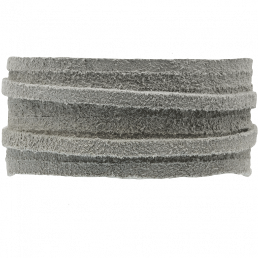Suede Veter (3 mm) Silver Grey (5 Meter)