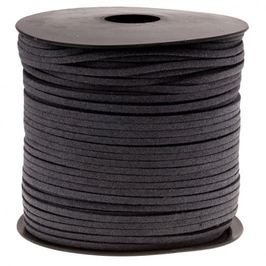 Faux Suede Veter (3 mm) Cool Grey (91 Meter)