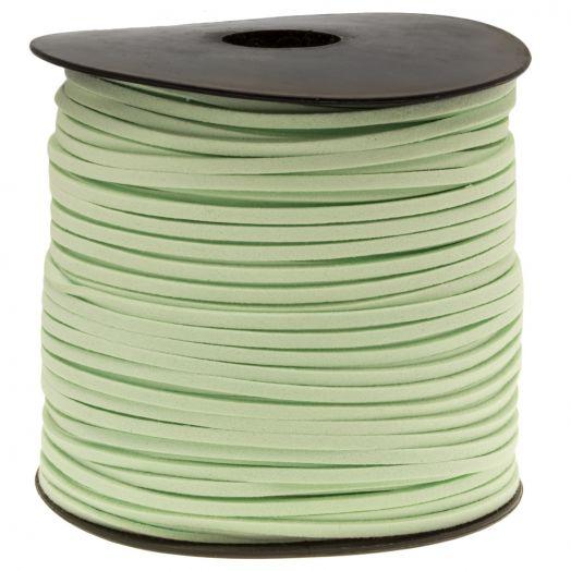 Faux Suede Veter (3 mm) Mint (91 Meter)