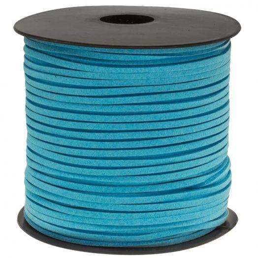 Faux Suede Veter (3 mm) Sky Blue (91 Meter)