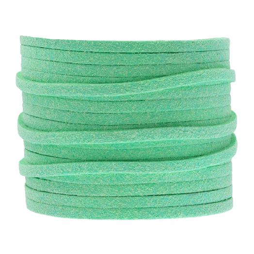 Faux Suede Veter (3 mm) Mint Green (5 Meter)