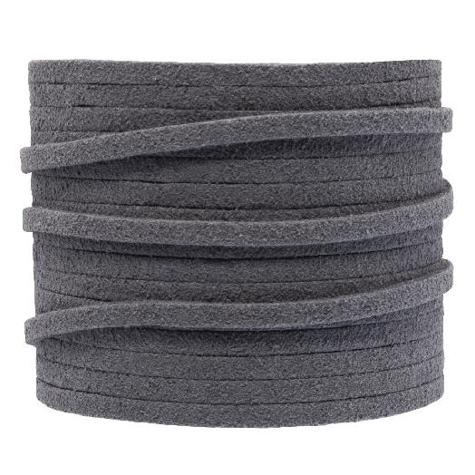 Faux Suede Veter (3 mm) Grey (5 Meter)