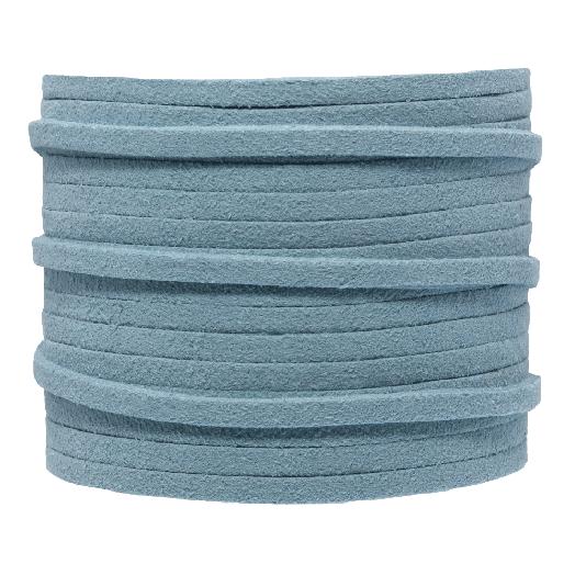 Faux Suede Veter (3 mm) Porcelain Blue (5 Meter)