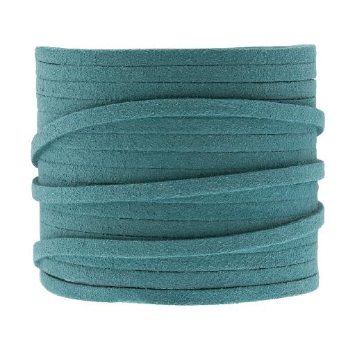 Faux Suede Veter (3 mm) Ocean Blue (5 Meter)