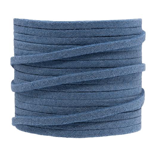 Faux Suede Veter (3 mm) Blue Epic (5 Meter)