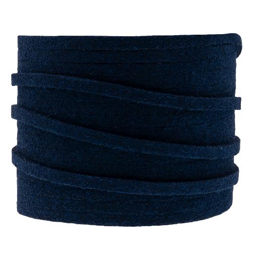 Faux Suede Veter (3 mm) Dark Blue (5 Meter)