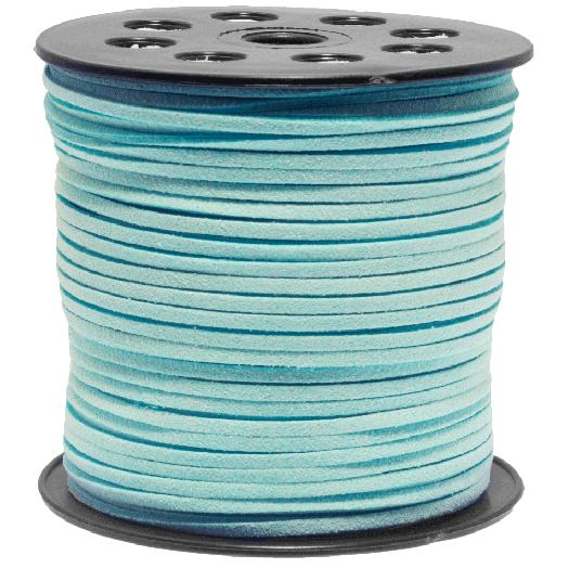 Faux Suede Veter (3 mm) Mint Blue (91 Meter)