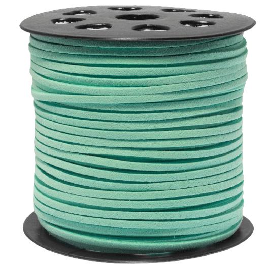 Faux Suede Veter (3 mm) Fresh Mint (91 Meter)