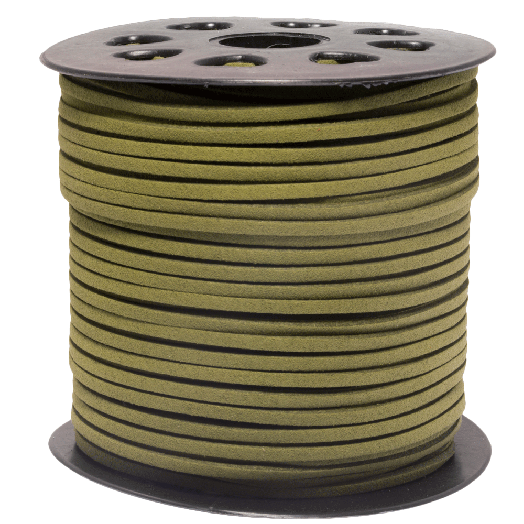 Faux Suede Veter (3 mm) Old Moss Green (91 Meter)