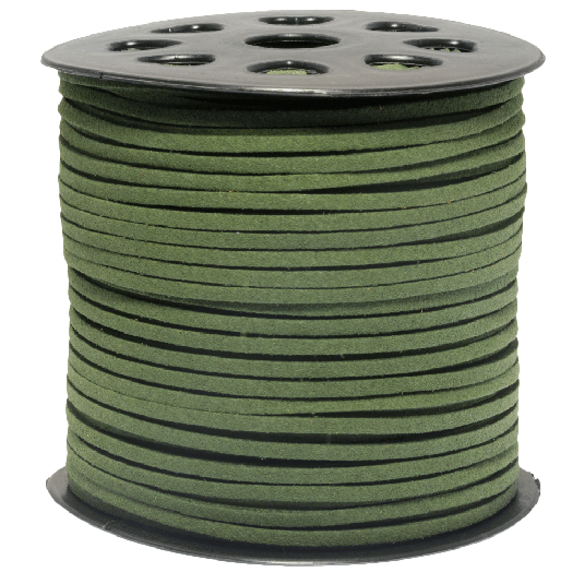 Faux Suede Veter (3 mm) Cactus Green (91 Meter)