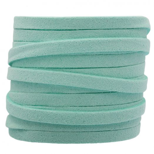 Faux Suede Veter (5 mm) Peppermint (5 Meter)