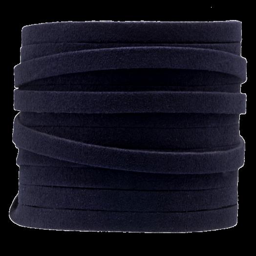 Faux Suede Veter (5 mm) Dark Blue (5 Meter)