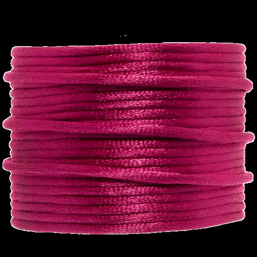 Satijnkoord (2 mm) Fuchsia (15 Meter)