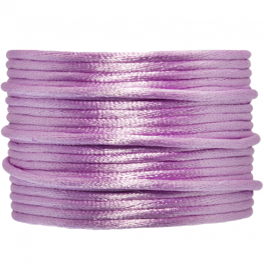Satijnkoord (2 mm) Lilac (15 Meter)