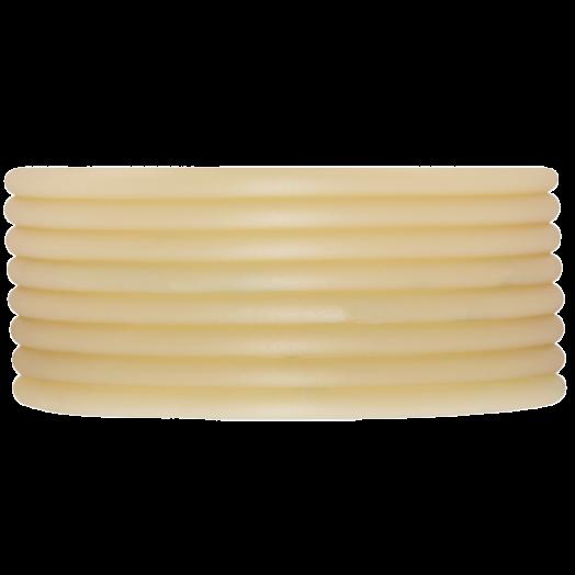 Rubber Koord (3 mm) Sand (5 Meter) holle binnenkant