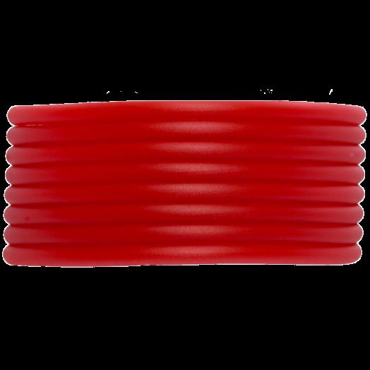 Rubber Koord (2 mm) Bright Red (5 Meter) holle binnenkant