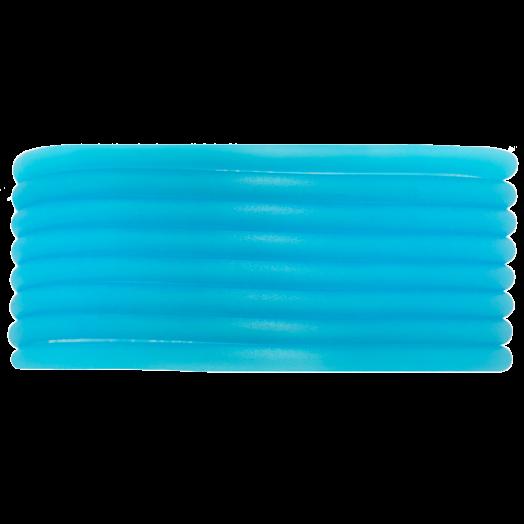 Rubber Koord (3 mm) Sky Blue (5 Meter) holle binnenkant