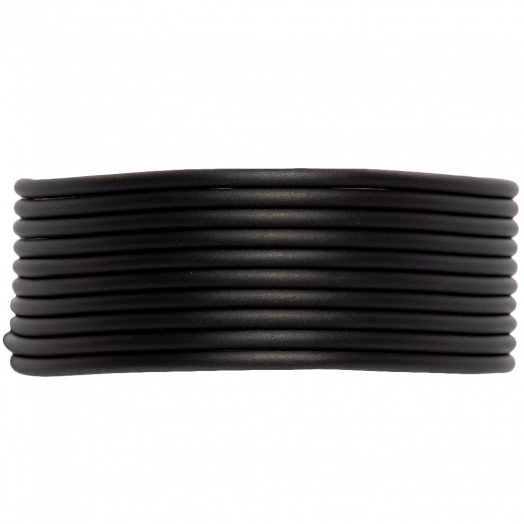 Rubber Koord (2 mm) Black (5 Meter) holle binnenkant