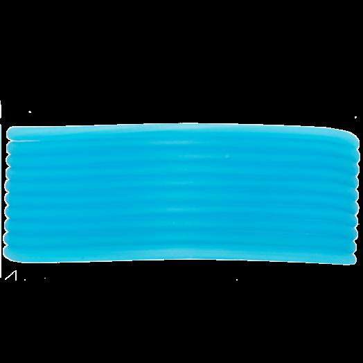 Rubber Koord (2 mm) Sky Blue (5 Meter) holle binnenkant