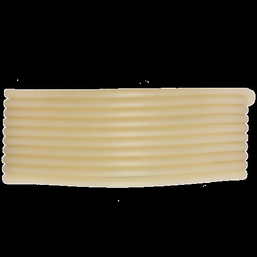 Rubber Koord (2 mm) Light Sand (5 Meter) holle binnenkant