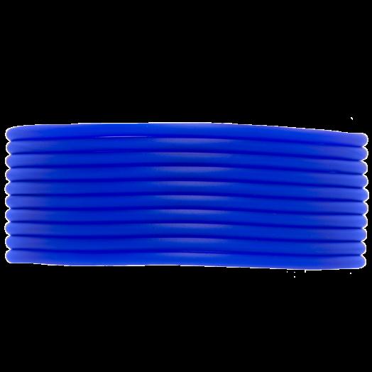 Rubber Koord (2 mm) True Blue (5 Meter) holle binnenkant