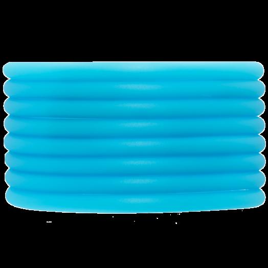 Rubber Koord (4 mm) Sky Blue (5 Meter) holle binnenkant