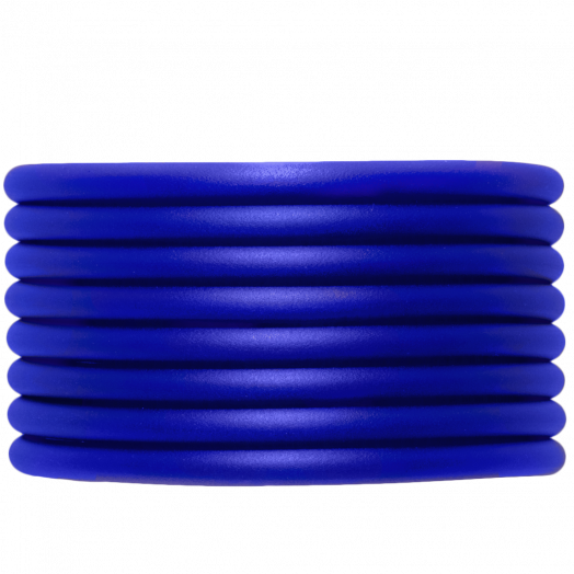 Rubber Koord (4 mm) Royal  Blue (5 Meter) holle binnenkant
