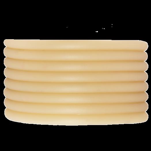 Rubber Koord (4 mm) Sand (5 Meter) holle binnenkant