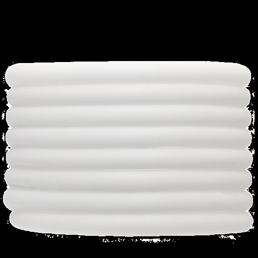 Rubber Koord (5 mm) White (2 Meter) holle binnenkant