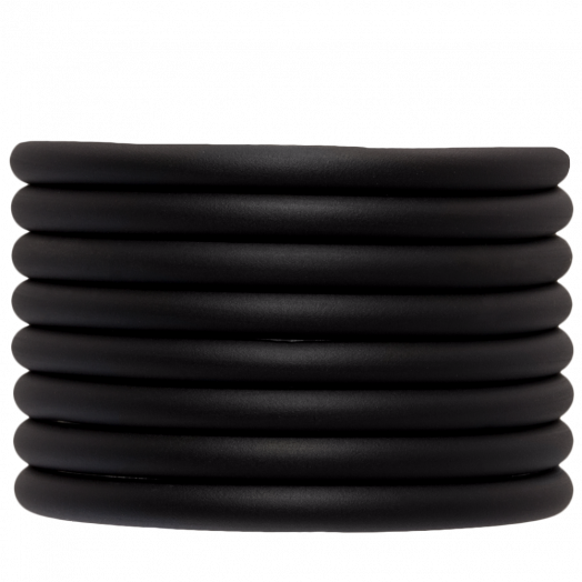Rubber Koord (5 mm) Black (2 Meter) holle binnenkant