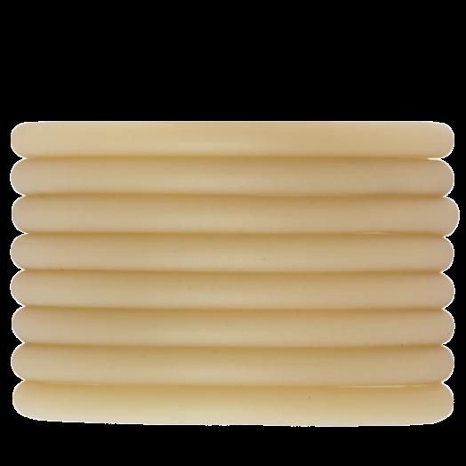 Rubber Koord (5 mm) Sand (2 Meter) holle binnenkant