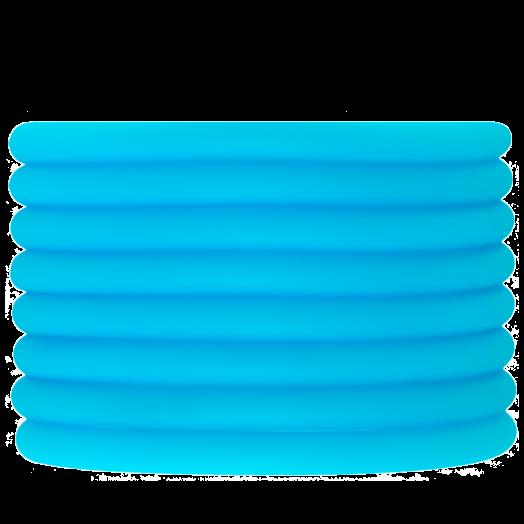 Rubber Koord (5 mm) Sky Blue (2 Meter) holle binnenkant