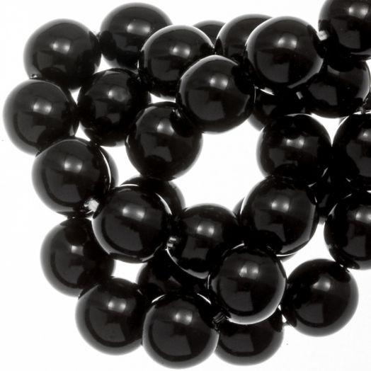 DQ Glasparels (8 mm) Black Shine (75 Stuks)