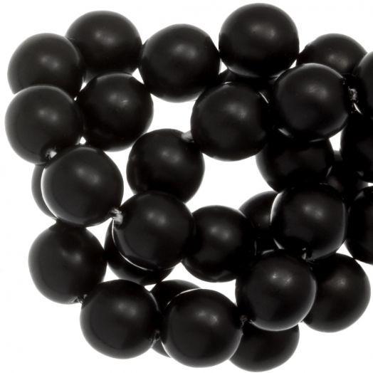 DQ Glasparels (8 mm) Black Matt (75 Stuks)