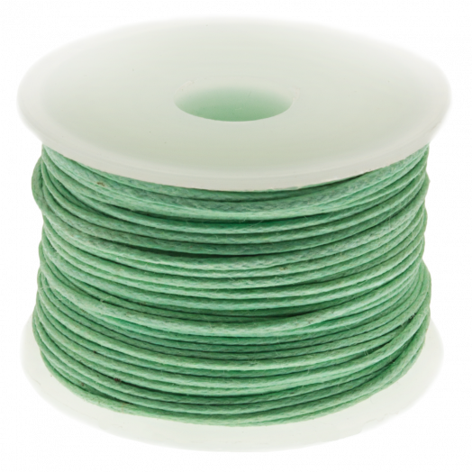 Waxkoord (0.5 mm) Bright Mint Green (25 Meter)