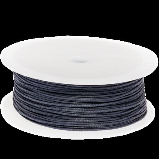 Waxkoord (0.5 mm) Dark Blueberry (100 Meter)