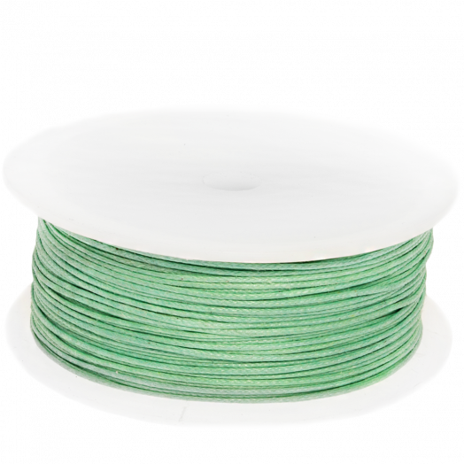 Waxkoord (0.5 mm) Bright Mint Green (100 Meter)