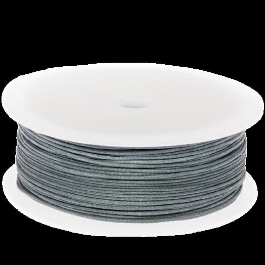 Waxkoord (0.5 mm) Stone Blue Grey (100 Meter)