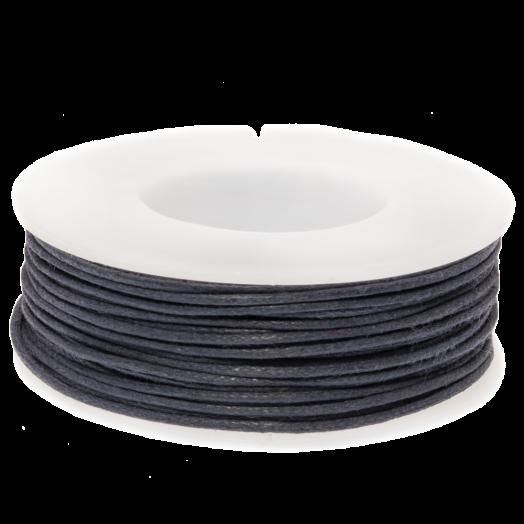 Waxkoord (1 mm) Dark Blueberry (25 Meter)
