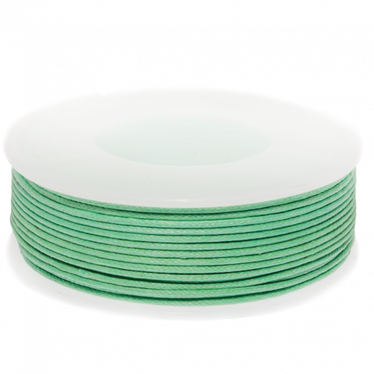 Waxkoord (1 mm) Bright Mint Green (25 Meter)