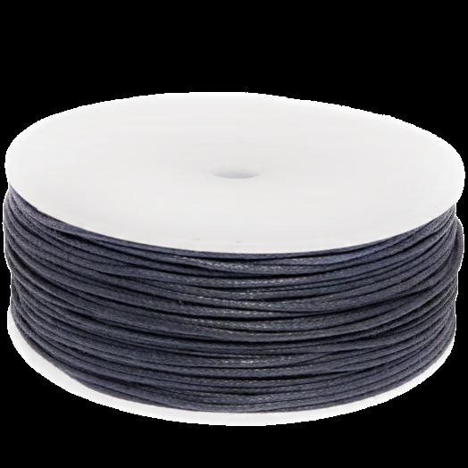Waxkoord (1 mm) Dark Blueberry (90 Meter)