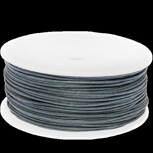Waxkoord (1 mm) Stone Blue Grey (90 Meter)