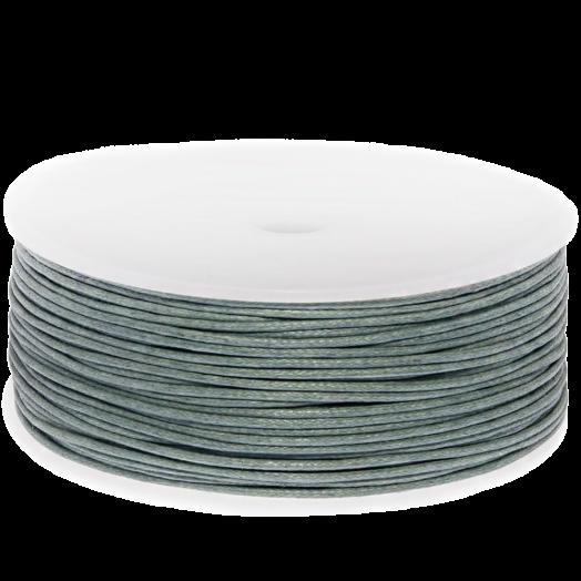 Waxkoord (1 mm) Stone Grey (90 Meter)