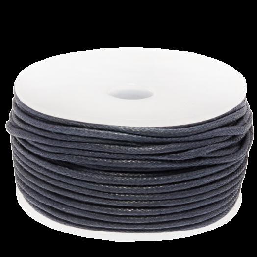 Waxkoord (1.5 mm) Dark Blueberry (25 Meter)