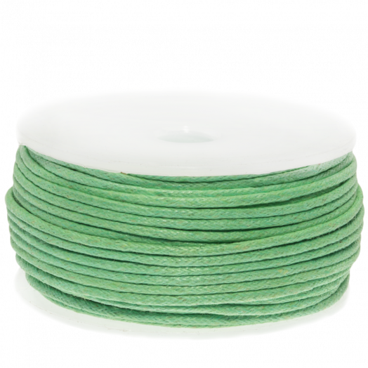 Waxkoord (1.5 mm) Bright Mint Green (25 Meter)
