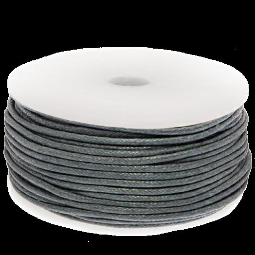 Waxkoord (1.5 mm) Stone Blue Grey (25 Meter)
