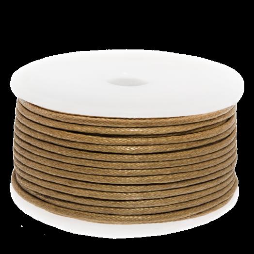 Waxkoord (1.5 mm) Gold Brown (25 Meter)