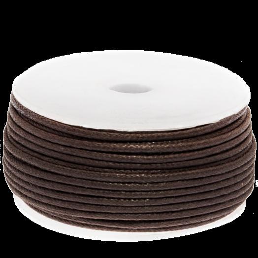 Waxkoord (1.5 mm) Brown (25 Meter)